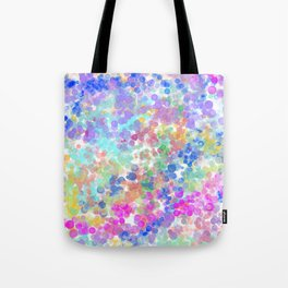 Elegant pink teal blue lavender watercolor bokeh Tote Bag