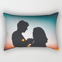 couple mood Rectangular Pillow