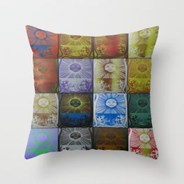 Collection of Sun Prints Throw Pillow