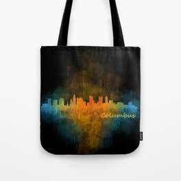 Columbus Ohio, City Skyline, watercolor  Cityscape Hq v4 Tote Bag
