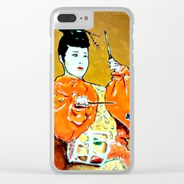 Drum Ceremony Clear iPhone Case
