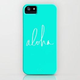 Aloha Tropical Turquoise iPhone Case