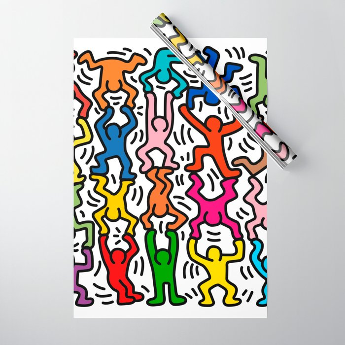 Homage to Keith Haring Acrobats II Wrapping Paper