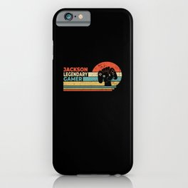Jackson Legendary Gamer Personalized Gift iPhone Case