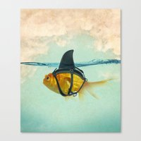 fish Canvas Prints featuring Brilliant DISGUISE by Vin Zzep