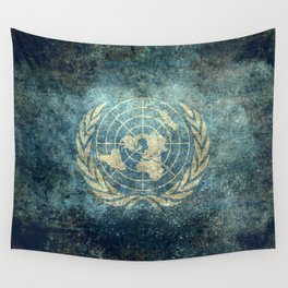 The United Nations Flag - Vintage version Wall Tapestry