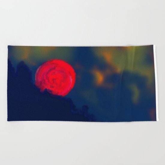 Red Moon Beach Towel