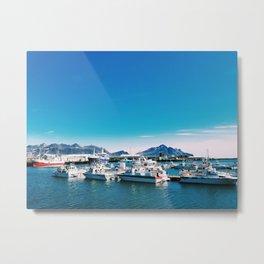 Hofn Marina Metal Print