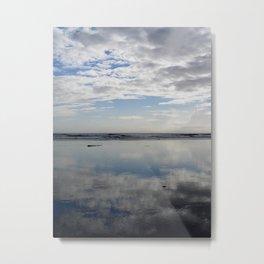 MIRROR BEACH Metal Print