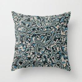 Liquid Neptune Throw Pillow