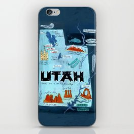 UTAH map iPhone Skin