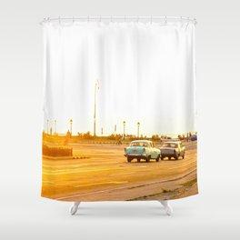 Cuban sunset Shower Curtain