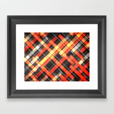 Weave Pattern Framed Art Print