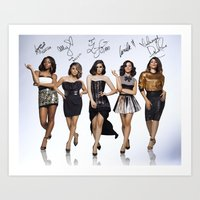 fifth harmony Art Prints featuring Fifth Harmony  by stephanie