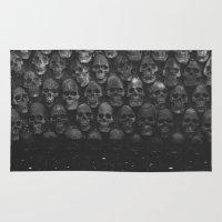 skulls Area & Throw Rugs featuring SKULLS by Danielle Fedorshik