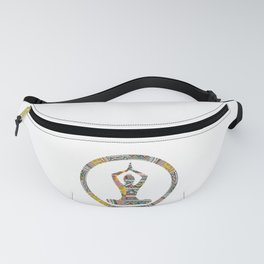 Yoga woman with ethnic motifs pattern Fanny Pack