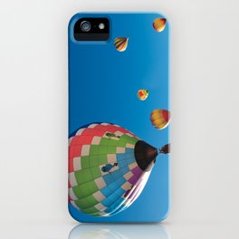 Balloons on Blue iPhone Case