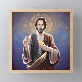 Saint Keanu of Reeves Framed Mini Art Print