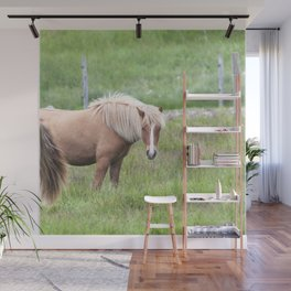 Watercolor Horse 37, Icelandic Pony, Höfn, Iceland, Blondette Wall Mural