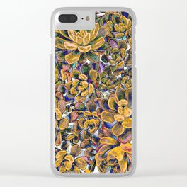 Floral tribute [honey] Clear iPhone Case