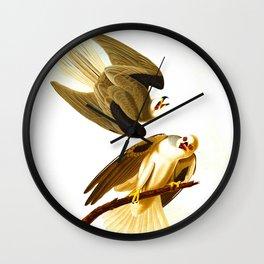 Black Winged Hawk Illustration Wall Clock