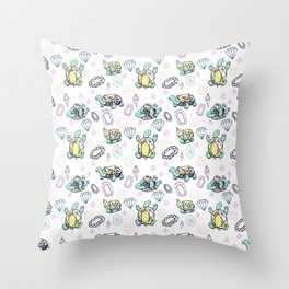 Gemstone Turtles Throw Pillow