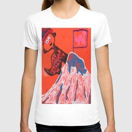 Dino climbing Mt. Rainier T-shirt