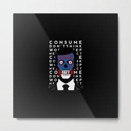 Obey Skull Metal Print