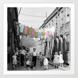 Laundry Day 2 Art Print
