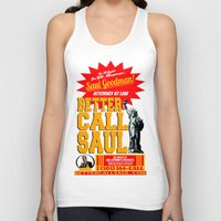 better call saul Tank Tops featuring BETTER CALL SAUL  |  BREAKING BAD by Silvio Ledbetter