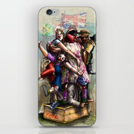 """African+British """"Red Nose Day"""" iPhone Skin"""