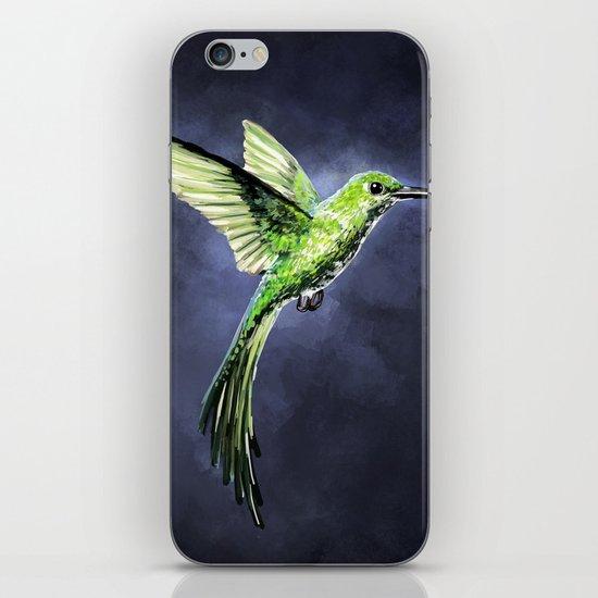 Green Hummingbird iPhone & iPod Skin