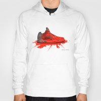 air jordan Hoodies featuring  2016 Air Jordan Retro (crimson red) by artbyinfernix