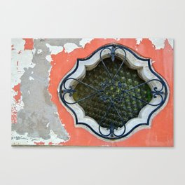 Burano Window Canvas Print