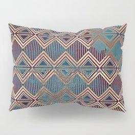 Distressed Triangle, Square with Stripes Digital Graphic Design - Artwork Pillow Sham