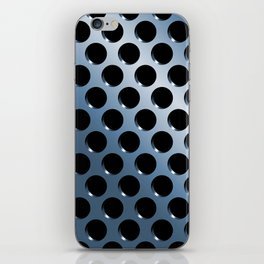 Cool Steel Graphic Art Like Polka Dots iPhone Skin