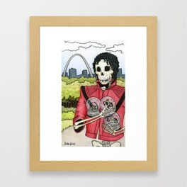 Unnamed Undead Guy, St. Louis Arch, Snow Globes Framed Art Print