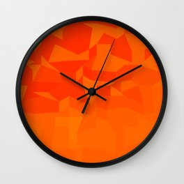 Fire Red Abstract Low Polygon Background Wall Clock