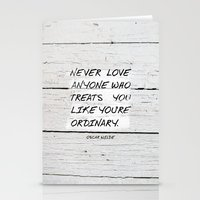 oscar wilde Stationery Cards featuring Quote / Oscar Wilde by Justified