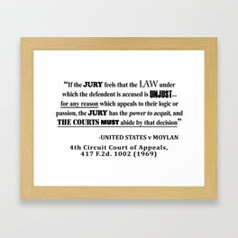 Jury Nullificaton Case Law Quote Framed Art Print