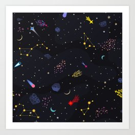 night galaxy Art Print