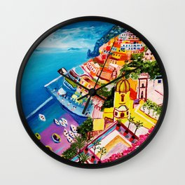 Beautiful Vernazza Wall Clock