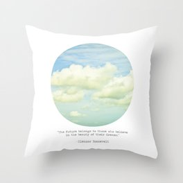 The beauty of the dreams Throw Pillow