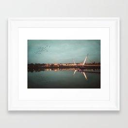 The Peace Bridge, Derry-Londonderry Framed Art Print