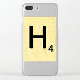 Scrabble H Decor, Scrabble Art, Large Scrabble Prints, Word Art, Accessories, Apparel, Home Decor Clear iPhone Case