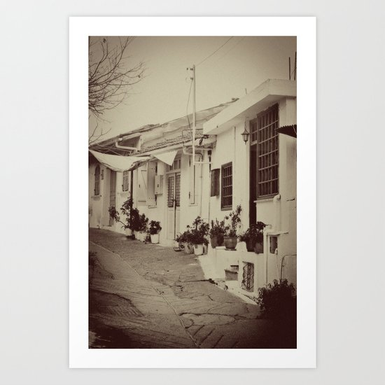 Omodos Cyprus in a time gone by Art Print