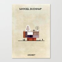 babina Canvas Prints featuring Marcel Duchamp by federico babina