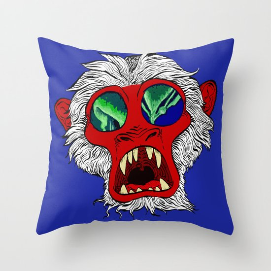 """Arctic Monkey"" by Virginia McCarthy Throw Pillow"