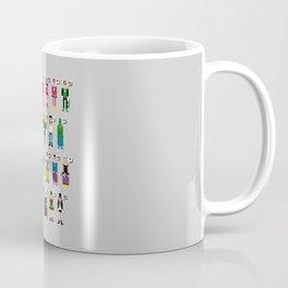 Pixel Superhero Alphabet 2 Coffee Mug