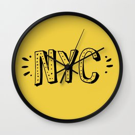 NYC lettering series: #2 Wall Clock
